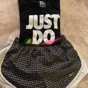 NIKE Just Do It Sz M Outfit SHORTS / SHIRT